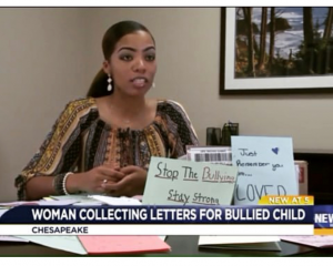 Chesapeake woman wants you to write a letter to a child who has been bullied
